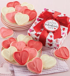 Buttercream Frosted Valentine Cookie Gift Boxes