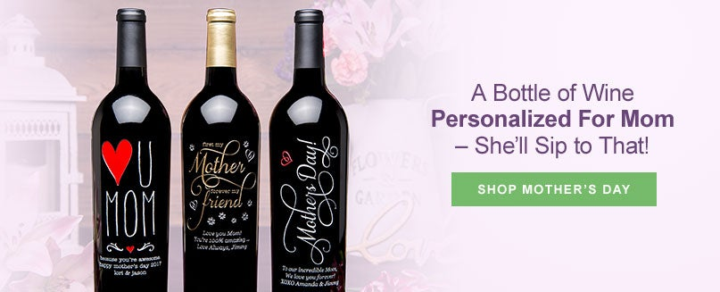 Bottle of Wine Personalized for Mom