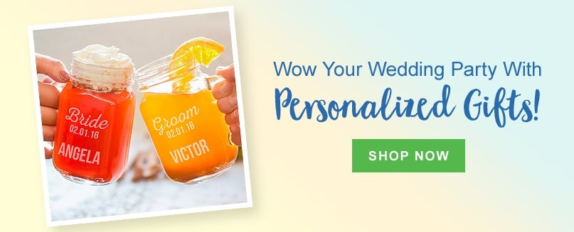 Wow Your Wedding Party With Personalized Gifts!