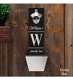 Wall Mounted Bottle Opener and Cap Catcher