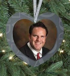 Dad Memorial Heart Ornament