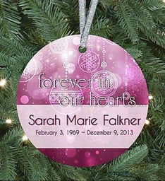 Forever In Our Hearts Bulb Ornament