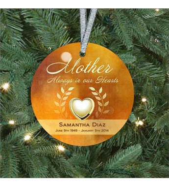 Mother's Heart of Gold Ornament