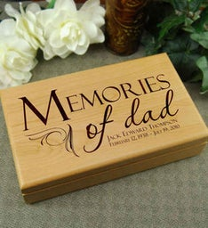 Memories of Dad Keepsake Box