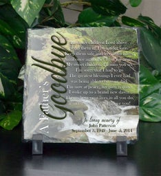 A Fathers Goodbye Small Plaque