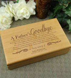A Fathers Goodbye Alder Keepsake Box