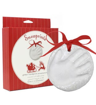 Glittery Snow Handprint Ornament Kit