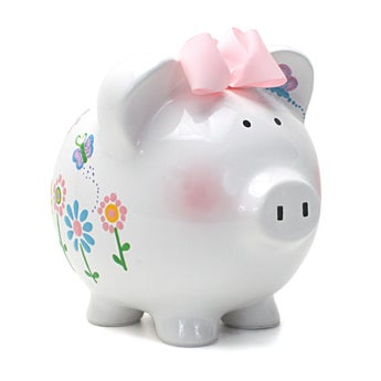 Personalized Hand-Painted Piggy Bank
