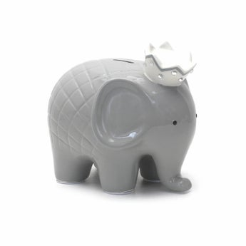 Personalized Hand-Painted Gray Coco Elephant Bank