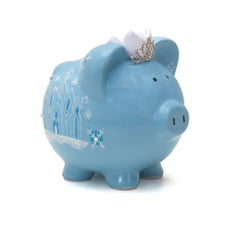PERSONALIZED HAND-PAINTED ICE QUEEN PIGGY BANK