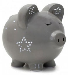 Personalized Hand-Painted Night Light Piggy Bank