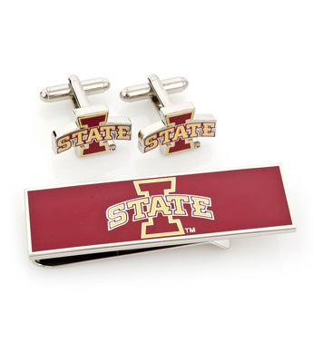 Iowa State Cyclones Cufflink and Money Clip Gift Set