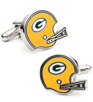 Retro Green Bay Packers Helmet Cufflinks