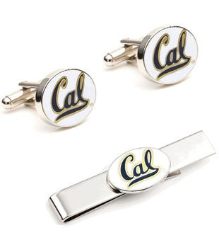 University of California Cufflinks and Tie Bar Gift Set