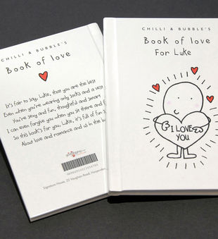 Personalized Chilli and Bubble's Book of Love