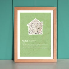 Personalized Home Framed Print In Green