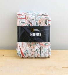 Personalized Map Napkins