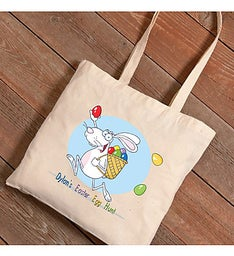 Easter Egg Hunt Personalized Canvas Bag