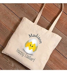 Personalized Easter Chicks Canvas Bag