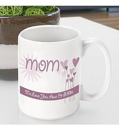 Personalized Hearts  Flowers Mug