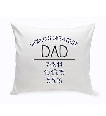 "Personalized ""World's Greatest"" Throw Pillow"