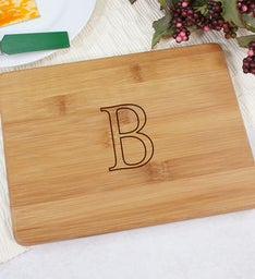 Engraved Monogrammed Bamboo Cheese Board