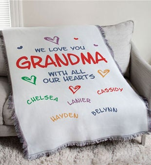 Personalized We Love You Throw Blanket