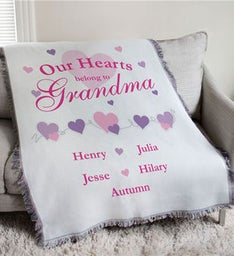 Our Hearts Belong To Personalized Throw Blanket
