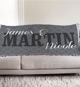 Personalized Couple's Throw Blanket