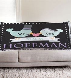 Personalized Newlywed Throw Blanket