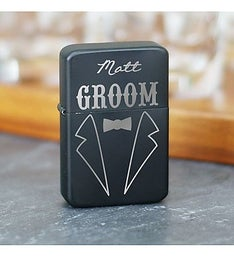 Engraved Groomsmen Tuxedo Lighter