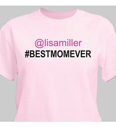 PERSONALIZED BEST MOM SOCIAL T-SHIRT