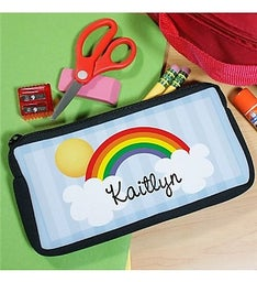 PERSONALIZED OVER THE RAINBOW PENCIL CASE