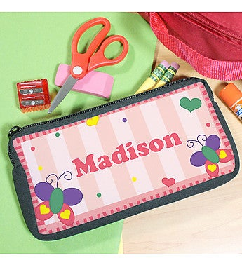 PERSONALIZED BUTTERFLY PENCIL CASE
