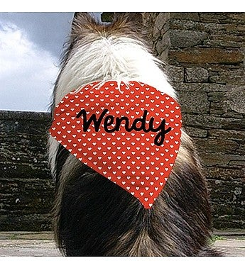 PERSONALIZED HEART PET BANDANA