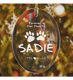 In Our Hearts Personalized Pet Memorial Ornament