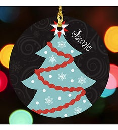HOLIDAY TREE PERSONALIZED ORNAMENT