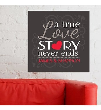 PERSONALIZED TRUE LOVE STORY WALL CANVAS