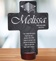 Personalized Graduation Blessing Cross Keepsake