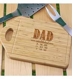 Engraved Dad Bamboo Cutting Board