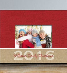 PERSONANLIZED CHRISTMAS WORDS PICTURE FRAME