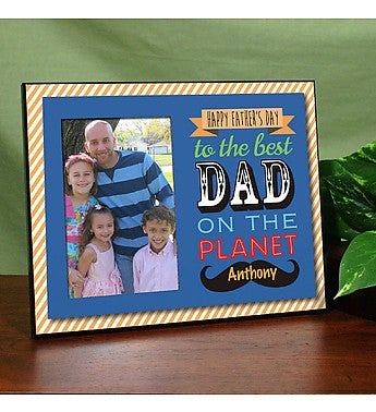 Best Dad Personalized Printed Frame