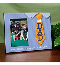 Personalized #1 Dad Printed Frame
