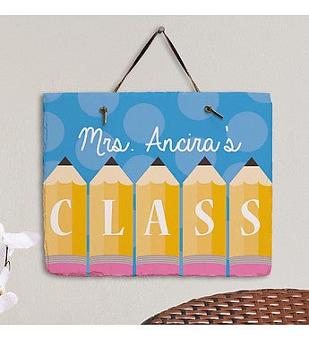 Personalized Teacher's Class Hanging Plaque