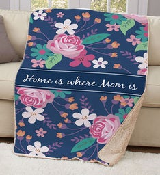 PERSONALIZED MOM SHERPA THROW