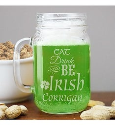 Personalized Irish Mason Jar