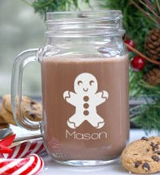GINGERBREAD MASON JAR