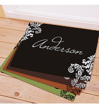 Personalized Sleek Family Welcome Doormat