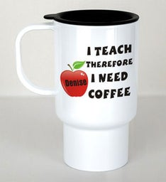 PERSONALIZED TEACHER TRAVEL MUG