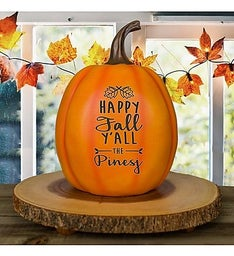 Personalized Happy Fall Yall Pumpkin